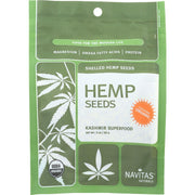 Navitas Naturals Hemp Seeds - Organic - Hulled - 3 Oz - Pack Of 12 - Kkdu Market