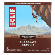 Clif Bar - Energy Bar - Chocolate Brownie - Case Of 6 - 6-2.4 Oz.