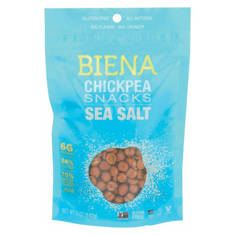 Biena Chickpea Snacks - Sea Salt - Pack Of 8 - 5 Oz. - Kkdu Market