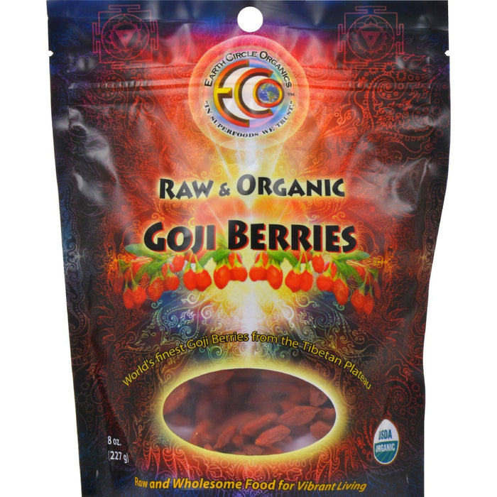 Earth Circle Organics Goji Berries - Organic - Dried - 8 Oz - Kkdu Market