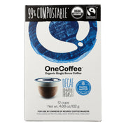 One Coffee - Decaf Dark Roasted - Pack Of 6 - 12 Count - Kkdu Market
