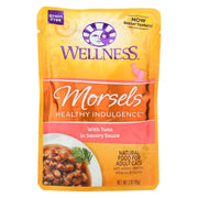 Wellness Pet Products Healthy Indulgence Morsels - Tuna In Savory Sauce - Pack Of 24 - 3 Oz. - Kkdu Market
