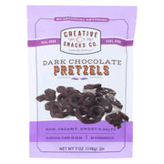 Creative Snacks - Pretzels - Dark Chocolate - Case Of 12 - 7 Oz.