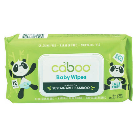 Caboo Baby Wipes - Bamboo - Pack Of 16 - 72 Count - Kkdu Market