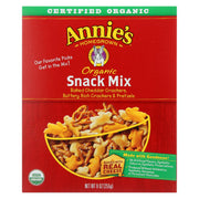 Annie's Homegrown Organic Baked Snack Mix -cheddar - Buttery Crackers & Pretzels - 9 Oz