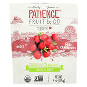 Patience Fruit And Co Whole Cranberries - Dried - Pack Of 8 - 4 Oz - Kkdu Market