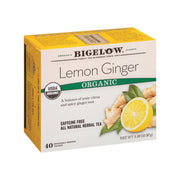 Bigelow Tea Tea - Organic - Limen - Ginger - Herbal - Pack Of 6 - 40 Count - Kkdu Market