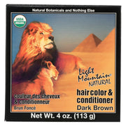 Light Mountain Organic Hair Color And Conditioner - Dark Brown - 4 Oz - Kkdu Market