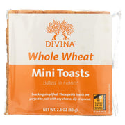 Divina - Whole Wheat Mini Toasts - Case Of 24 - 2.8 Oz.