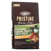 Castor And Pollux - Pristine Grain Free Dry Dog Food - Chicken, Turkey And Lentil - Case Of 5 - 4 Lb.