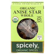 Spicely Organics - Organic Star Anise - Whole - Case Of 6 - 0.1 Oz.