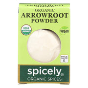 Spicely Organics - Organic Arrowroot - Case Of 6 - 0.4 Oz.