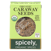 Spicely Organics - Organic Caraway Seeds  - Case Of 6 - 0.35 Oz.