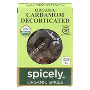 Spicely Organics - Organic Cardamom - Decorticated - Case Of 6 - 0.35 Oz.