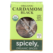 Spicely Organics - Organic Cardamom Pods - Black - Case Of 6 - 0.2 Oz.