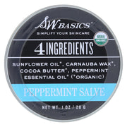 S.w. Basics - 4 Ingredients Salve - Peppermint - 1 Oz. - Kkdu Market