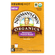 Newman's Own Organics Coffee - Organic - French Roast - Pack Of 6 - 12 Count - Kkdu Market