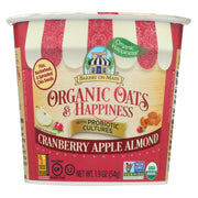 Bakery On Main Oats And Happiness Oatmeal Cup - Cranberry Apple Almond - Pack Of 12 - 1.9 Oz. - Kkdu Market