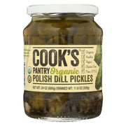Cook's Pantry - Organic Pickles - Polish Dill - Case Of 6 - 24 Oz.