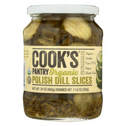 Cook's Pantry - Organic Pickles - Dill Slices - Case Of 6 - 24 Oz.