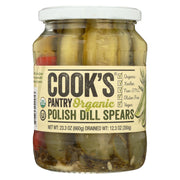 Cook's Pantry - Organic Pickles - Dill Spears - Case Of 6 - 24 Oz.