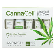 Andalou Naturals - Cannacell Botanical Skin Care Kit - 5 Count