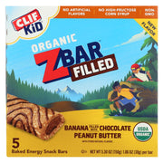 Clif Kid Zbar - Filled Organic Zbar - Banana With Chocolate Peanut Butter - Case Of 8 - 5-1.06 Oz.