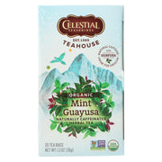 Celestial Seasonings - Organic Tea - Teahouse Mint Guayusa - Case Of 6 - 20 Bags