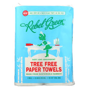 Rebel Green - Tree Free Paper Towels - Case Of 20 - 2 Count