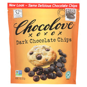 Chocolove Xoxox -  Dark Chocolate Chips - Case Of 8 - 11 Oz.