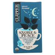 Clipper Tea - Organic Tea - Snore And Peace - Case Of 6 - 20 Bags