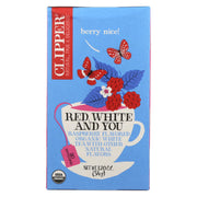 Clipper Tea - Organic Tea - Red White You - Case Of 6 - 20 Bags