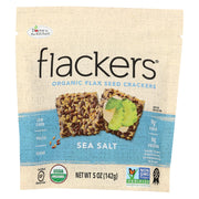 Doctor In The Kitchen - Organic Flax Seed Crackers - Sea Salt - Case Of 6 - 5 Oz.