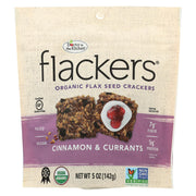 Doctor In The Kitchen - Organic Flax Seed Crackers - Cinnamon And Currants - Case Of 6 - 5 Oz.