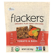 Doctor In The Kitchen - Organic Flax Seed Crackers - Tomato And Basil - Case Of 6 - 5 Oz.