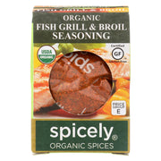Spicely Organics - Organic Seasoning - Fish Grill And Boil - Case Of 6 - 0.4 Oz.