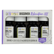 Aura Cacia - Discover Relaxation Essential Oil Kit - Each Of - 4-0.25 Fl Oz.
