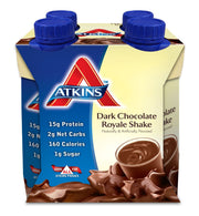 ATKINS: Dark Chocolate Royale Shake 4 count (11 oz each), 44 oz - Kkdu Market
