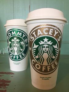 Glitter Reusable Personalized Starbucks Cup Go Green With Style
