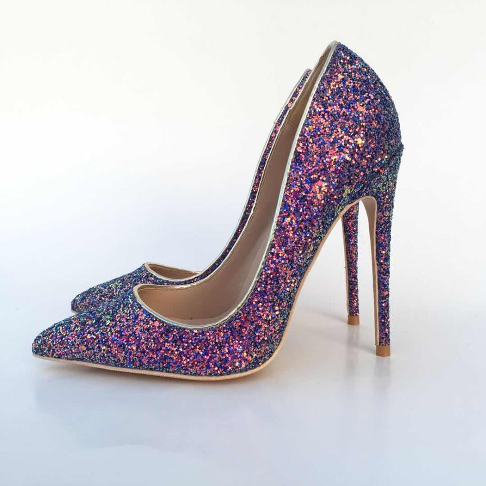 Sexy Glitter Leather Pumps – Modern Day Girly Girl 434935cf2681
