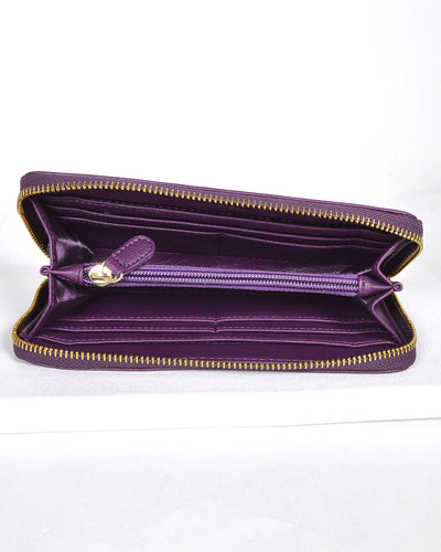 Textured and Embossed Effect Solid Clutch