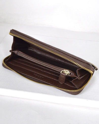 Textured Fringe Design Metal Accented Clutch