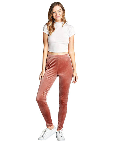 Fashion velvet knit pants