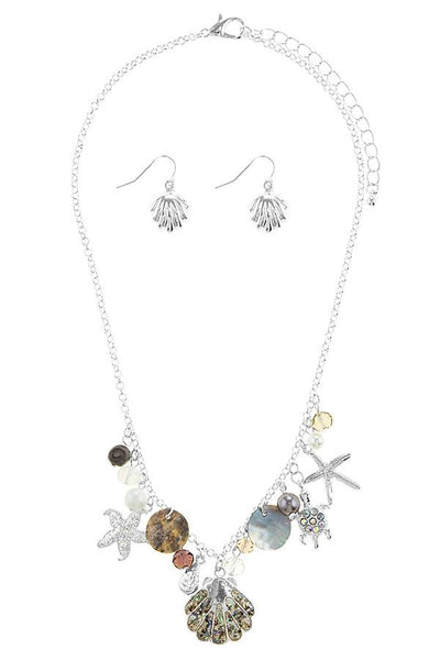 Oversize starfish station necklace set