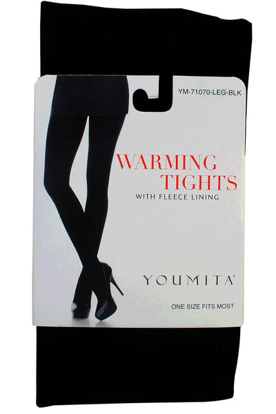 Ladies fashion warming tights with fleece lining