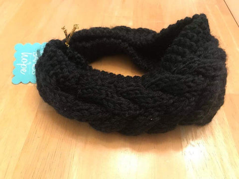 Black knitted ear sleeve