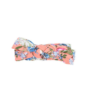 Pink floral infinity headband
