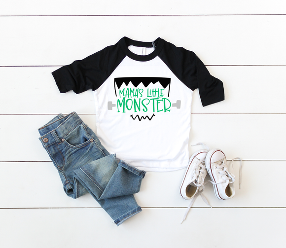 Mama's Little Monster Raglan tee