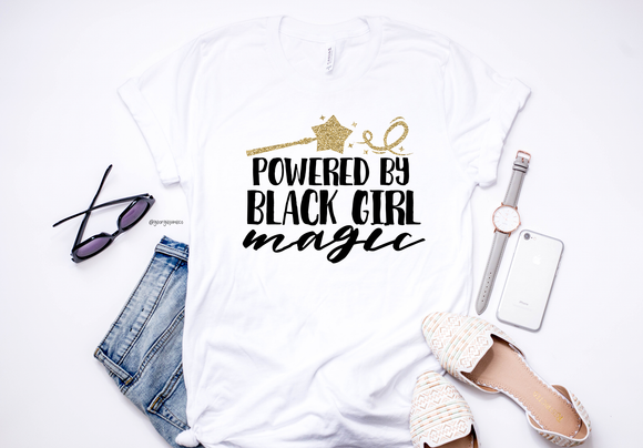 Powered By Black Girl Magic | Women's Tee