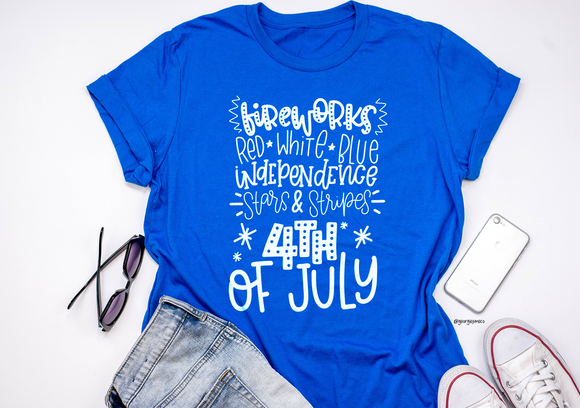 Fireworks 4th of July | Adult Tee